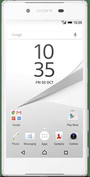 Sony Xperia Z5 White front
